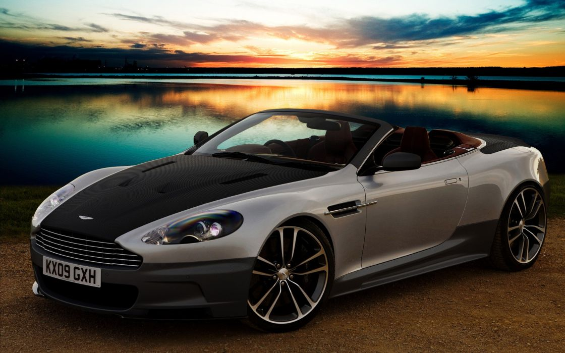 sunset cars versus tuning lakes Aston Martin DBS Aston Martin wallpaper