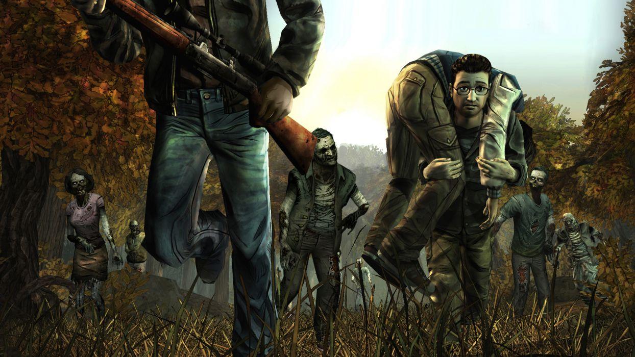 THE WALKING DEAD horror drama dark zombie  jg wallpaper