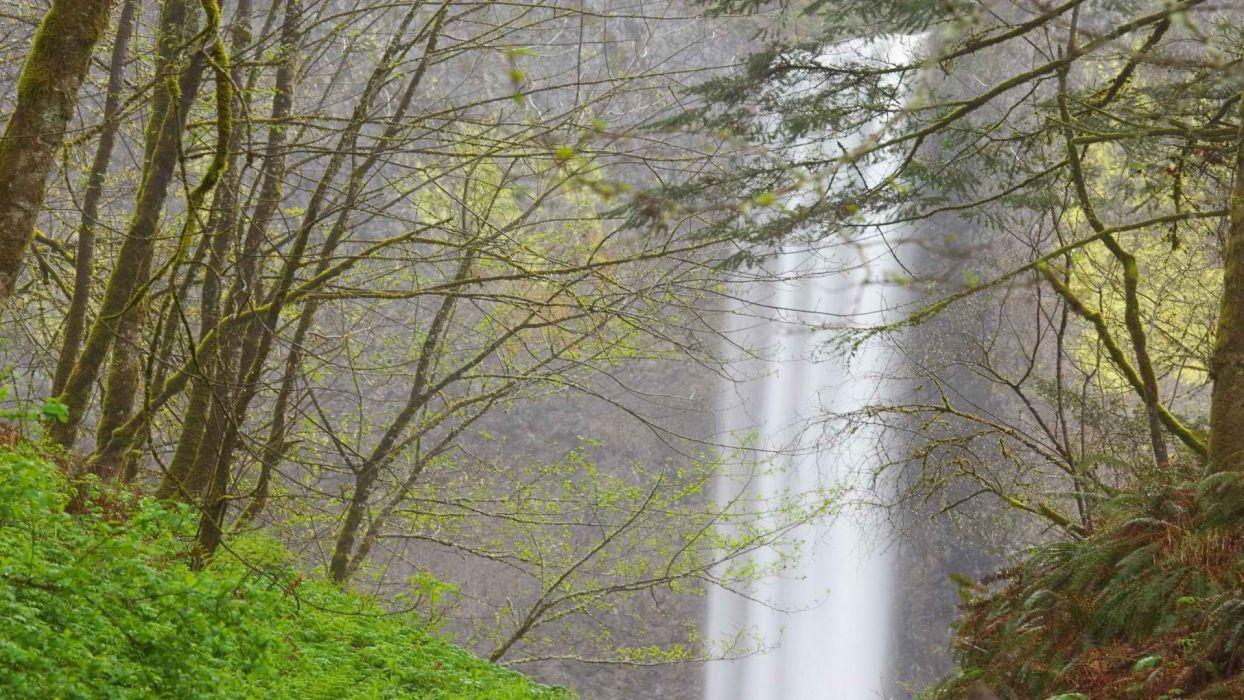 falls Oregon rivers wallpaper