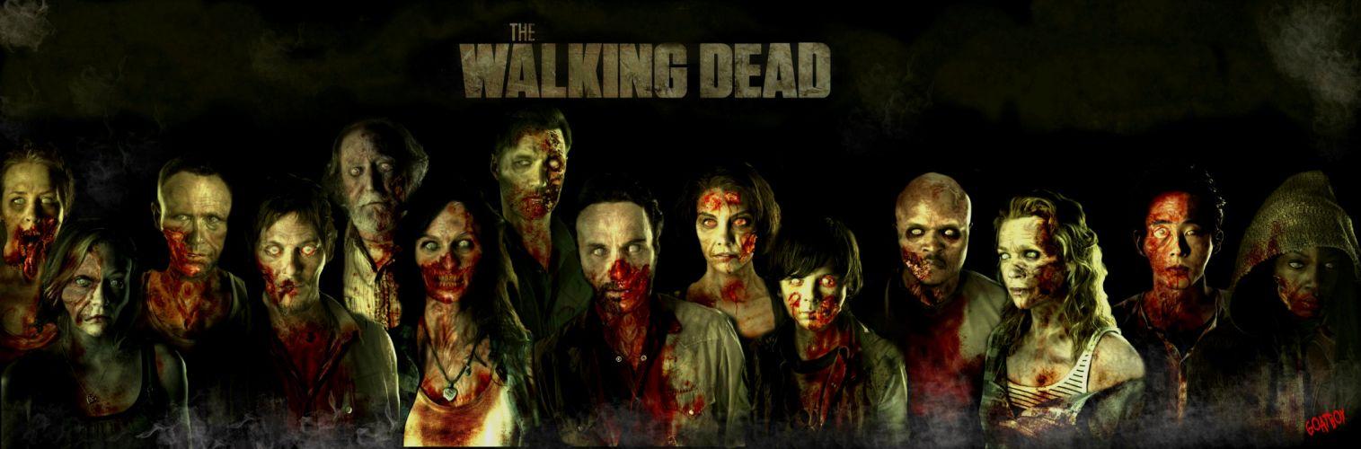THE WALKING DEAD horror drama dark zombie hf wallpaper