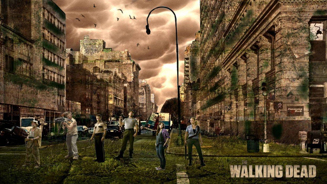 THE WALKING DEAD horror drama dark zombie apocalyptic    d wallpaper