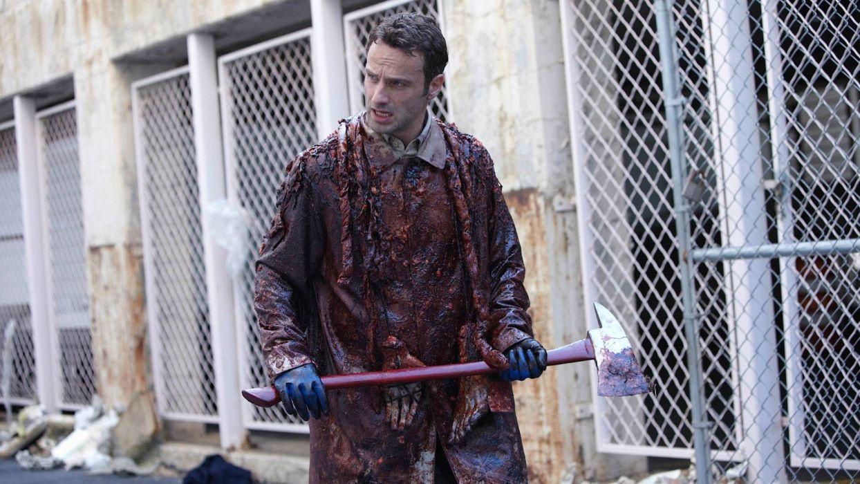 THE WALKING DEAD horror drama dark zombie blood   f wallpaper