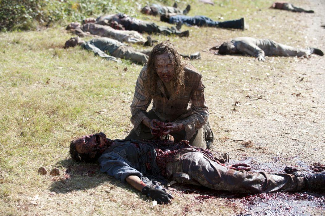 THE WALKING DEAD horror drama dark zombie blood  h wallpaper