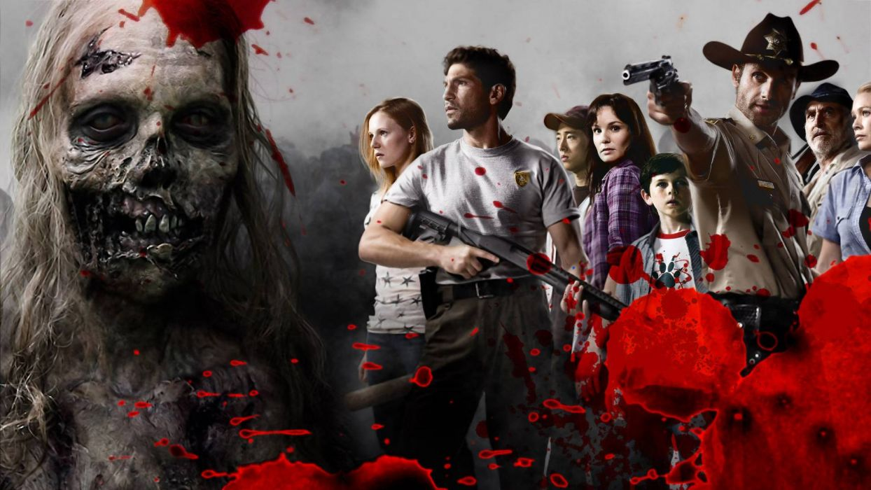 THE WALKING DEAD horror drama dark zombie blood y wallpaper