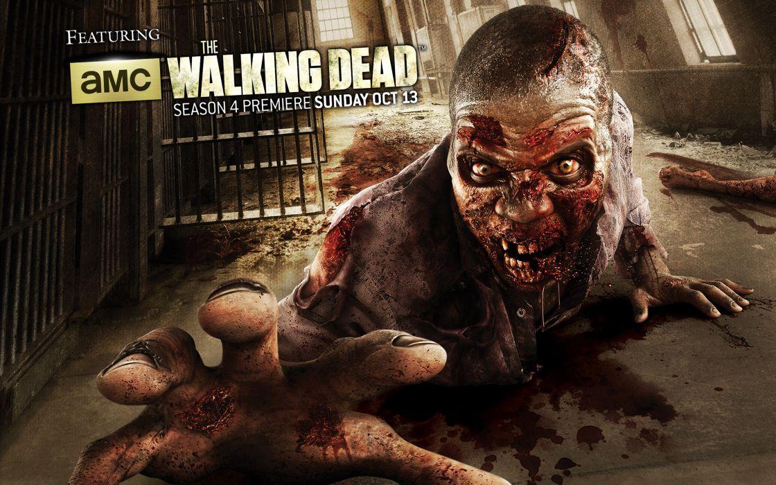 THE WALKING DEAD horror drama dark zombie blood poster  h wallpaper