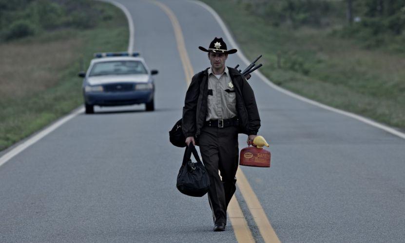 THE WALKING DEAD horror drama dark zombie police g wallpaper