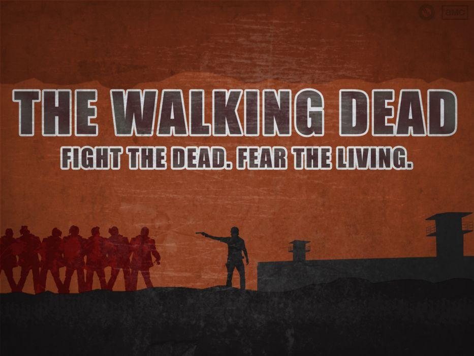 THE WALKING DEAD horror drama dark zombie poster      y wallpaper