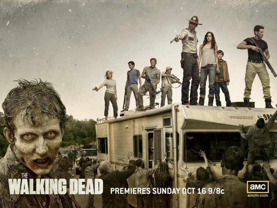 THE WALKING DEAD horror drama dark zombie poster    g wallpaper
