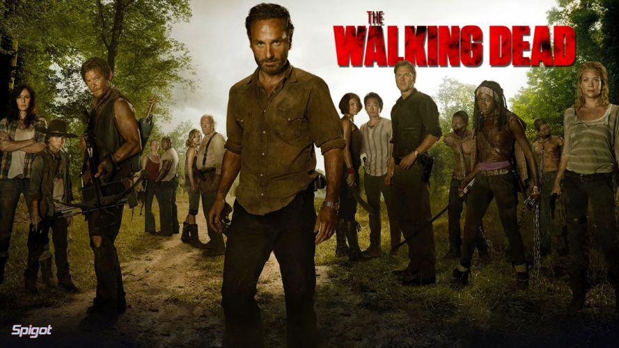 THE WALKING DEAD horror drama dark zombie poster j wallpaper