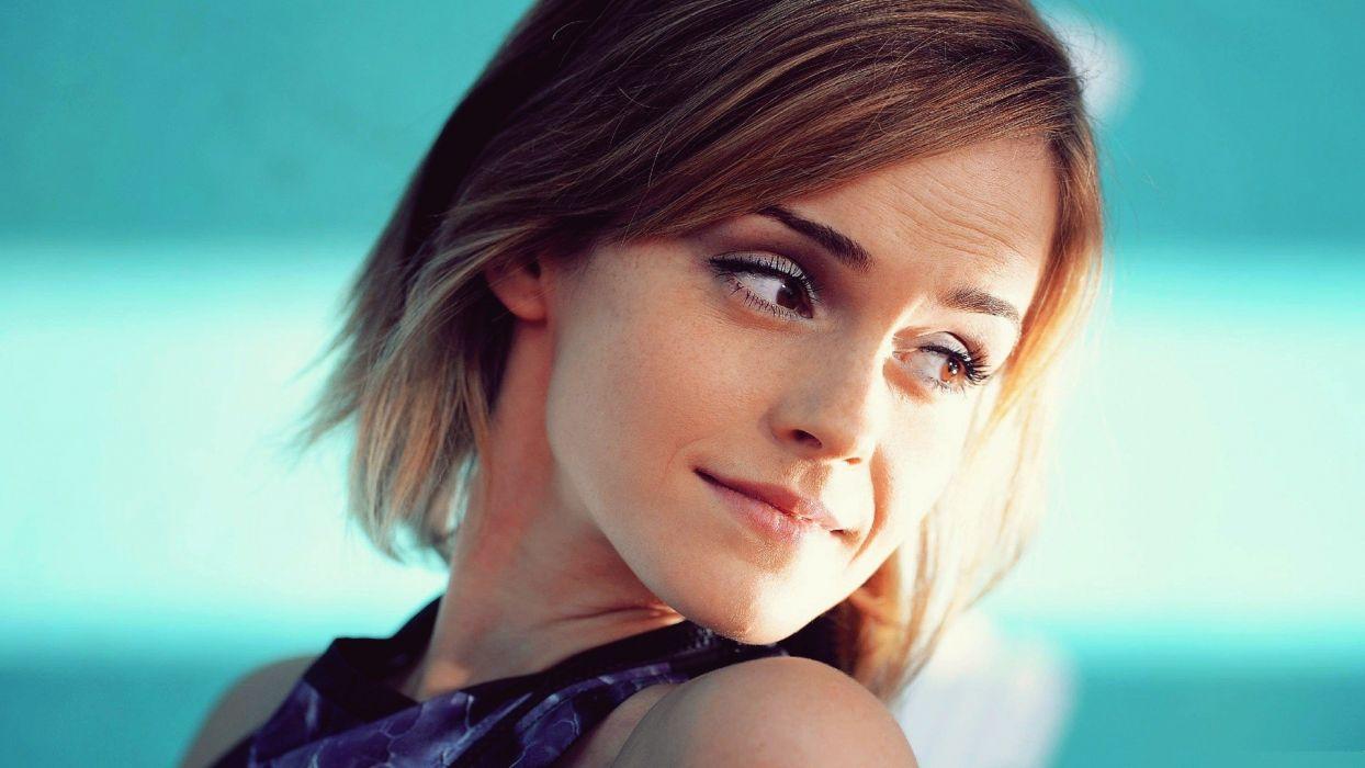 brunettes blondes women Emma Watson actress models wallpaper