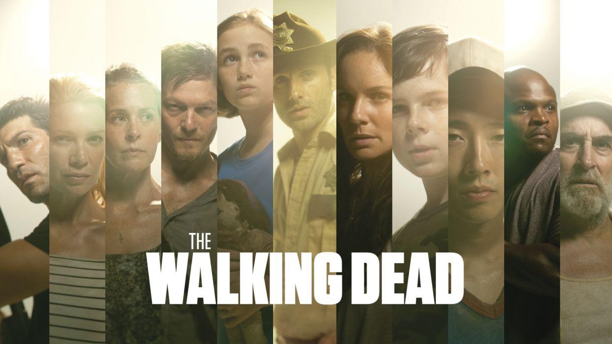 THE WALKING DEAD horror drama poster       f wallpaper