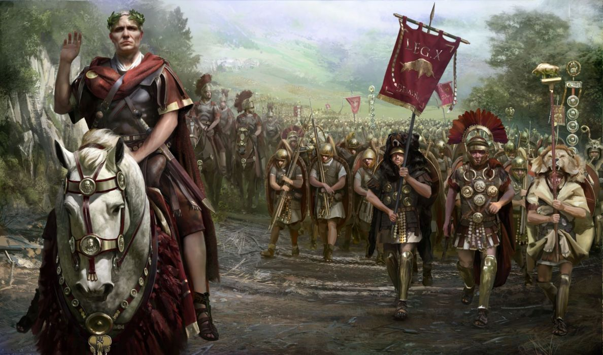 TOTAL WAR ROME action fantasy warrior armor roman wallpaper