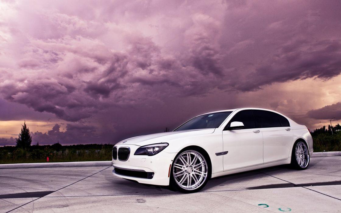 clouds BMW cars wallpaper