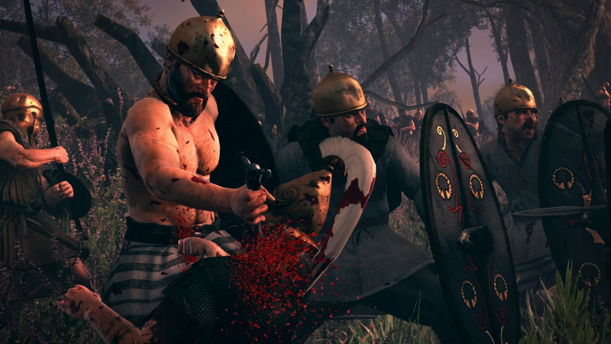 TOTAL WAR ROME action fantasy warrior battle dark blood    gd wallpaper