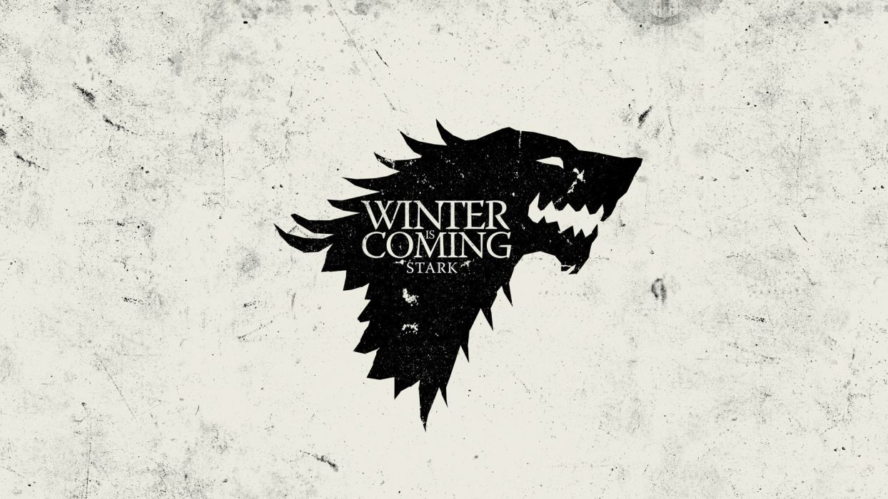 Game of Thrones sigil Winter is Coming House Stark wallpaper