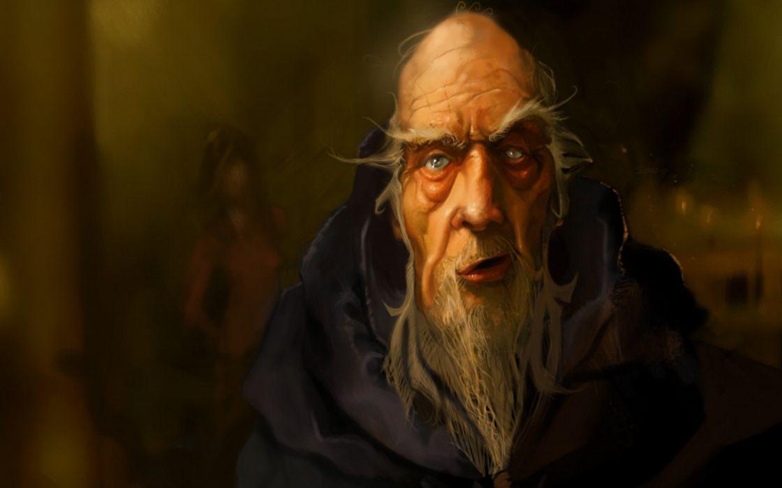 video games artwork Diablo III Deckard Cain wallpaper