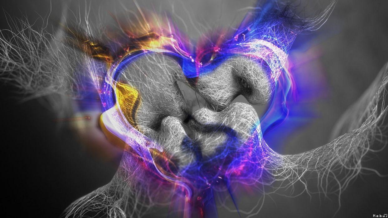 artwork hearts wallpaper