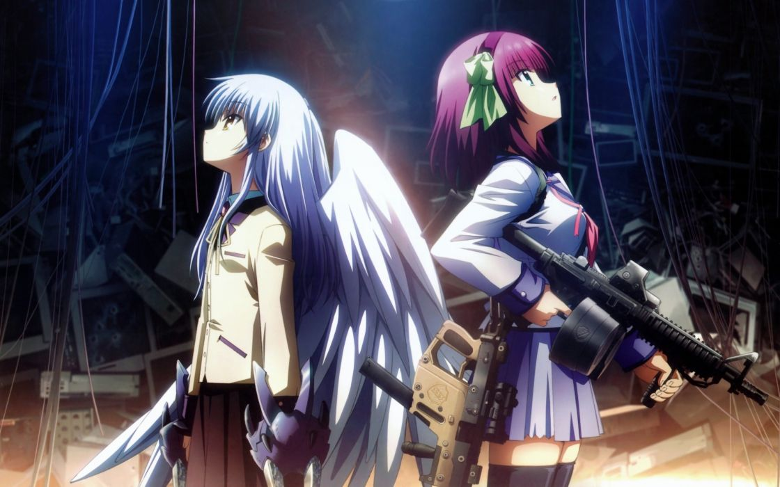 Angel Beats! school uniforms Tachibana Kanade anime manga Nakamura Yuri anime girls wallpaper