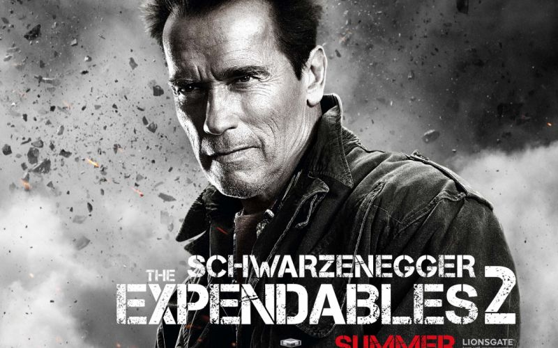 movies Arnold Schwarzenegger The Expendables 2 wallpaper