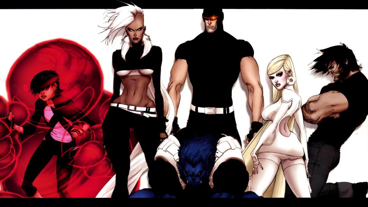 X-Men Wolverine anime Emma Frost Cyclops astonishing x-men Storm (comics character) Hank McCoy (Beast) wallpaper