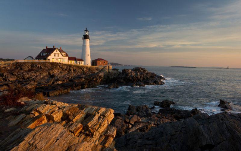 landscapes lighthouses wallpaper