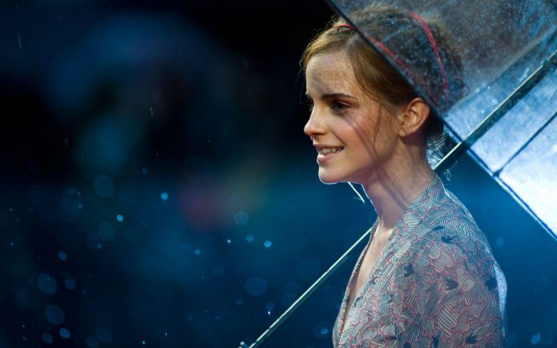 brunettes women Emma Watson actress celebrity wallpaper