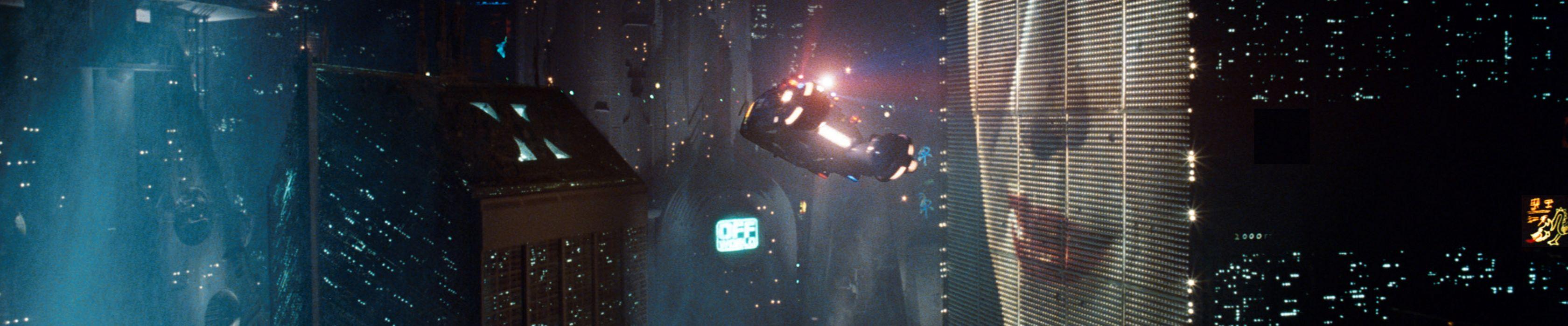 Blade Runner science fiction multiscreen flying cars wallpaper