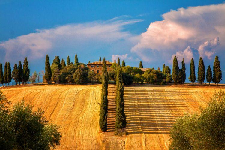 Toskana Summer Villa House tuscany wallpaper