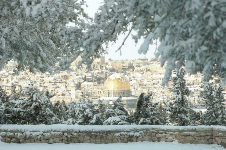 Israel Jerusalem Snow Winter temple mountain wallpaper