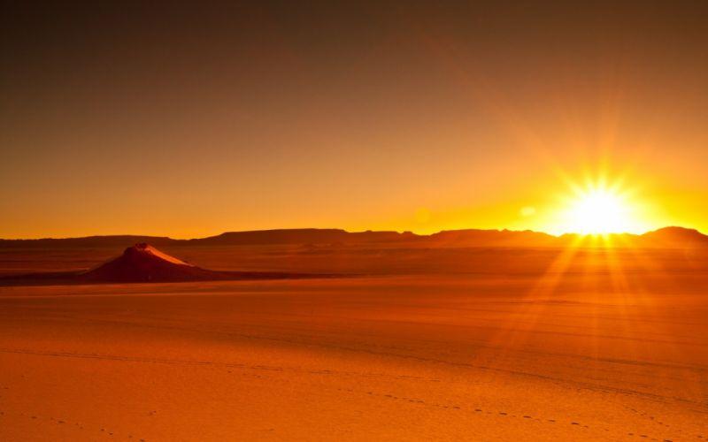 sunset deserts wallpaper