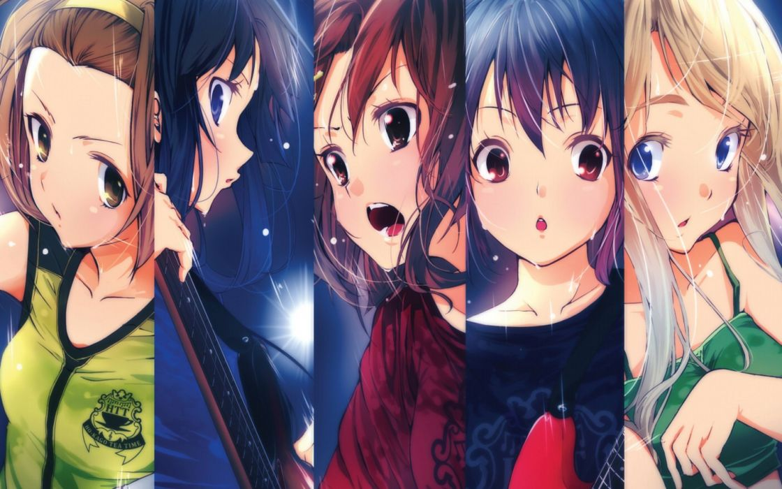 K-ON! Hirasawa Yui Akiyama Mio Tainaka Ritsu Kotobuki Tsumugi Nakano Azusa wallpaper