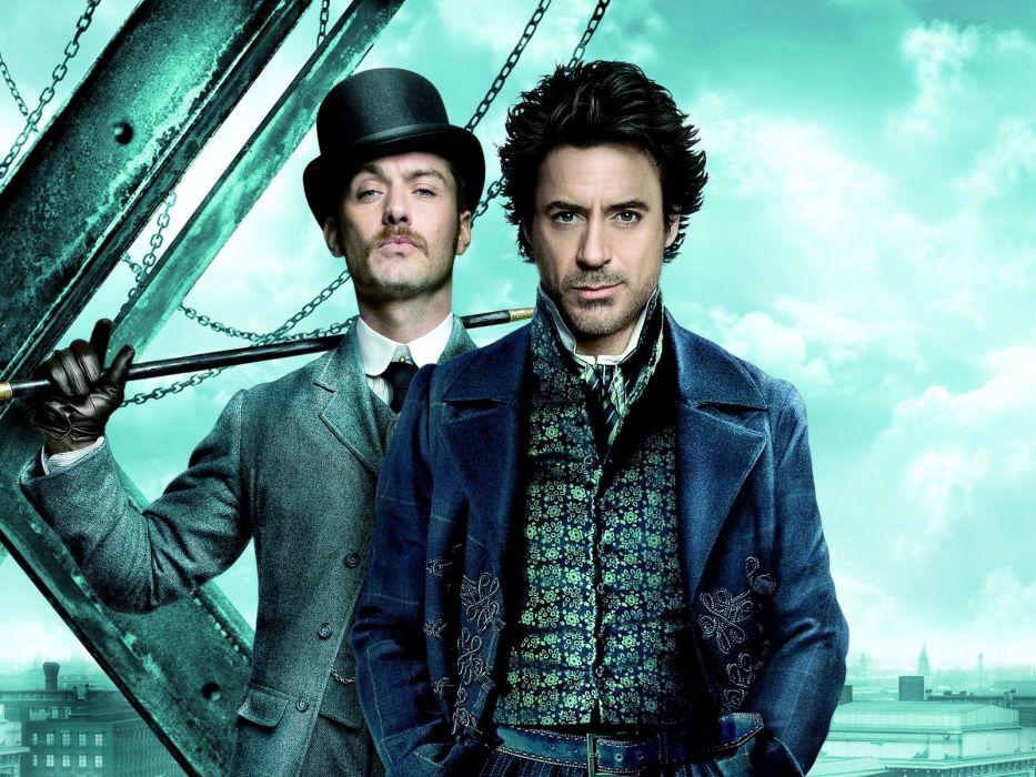 movies Robert Downey Jr Sherlock Holmes Jude Law Doctor Watson wallpaper