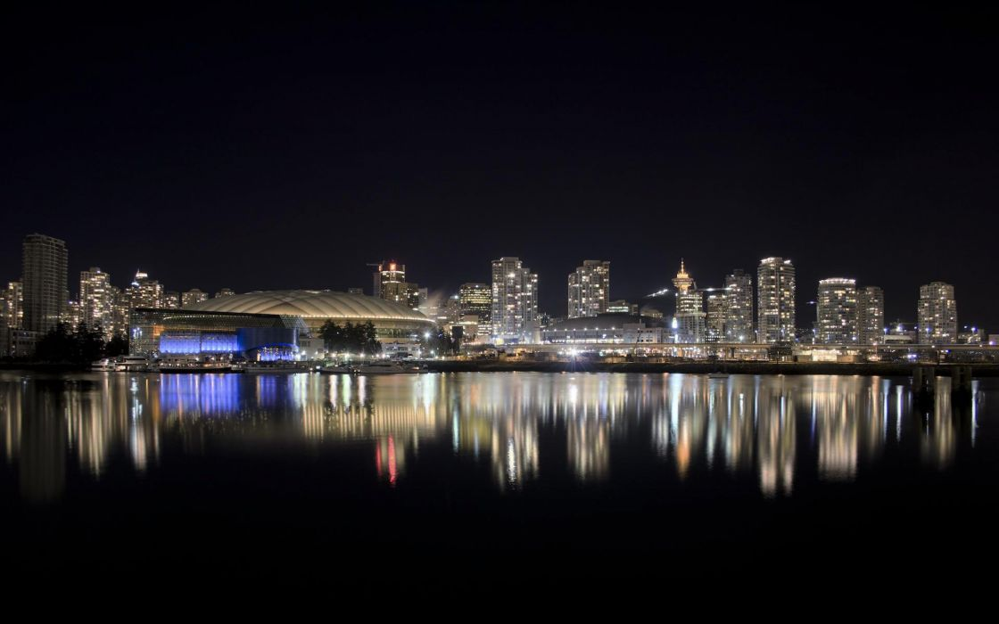 cityscapes Canada Vancouver wallpaper