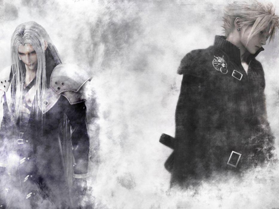 Final Fantasy VII Advent Children Sephiroth Cloud Strife wallpaper
