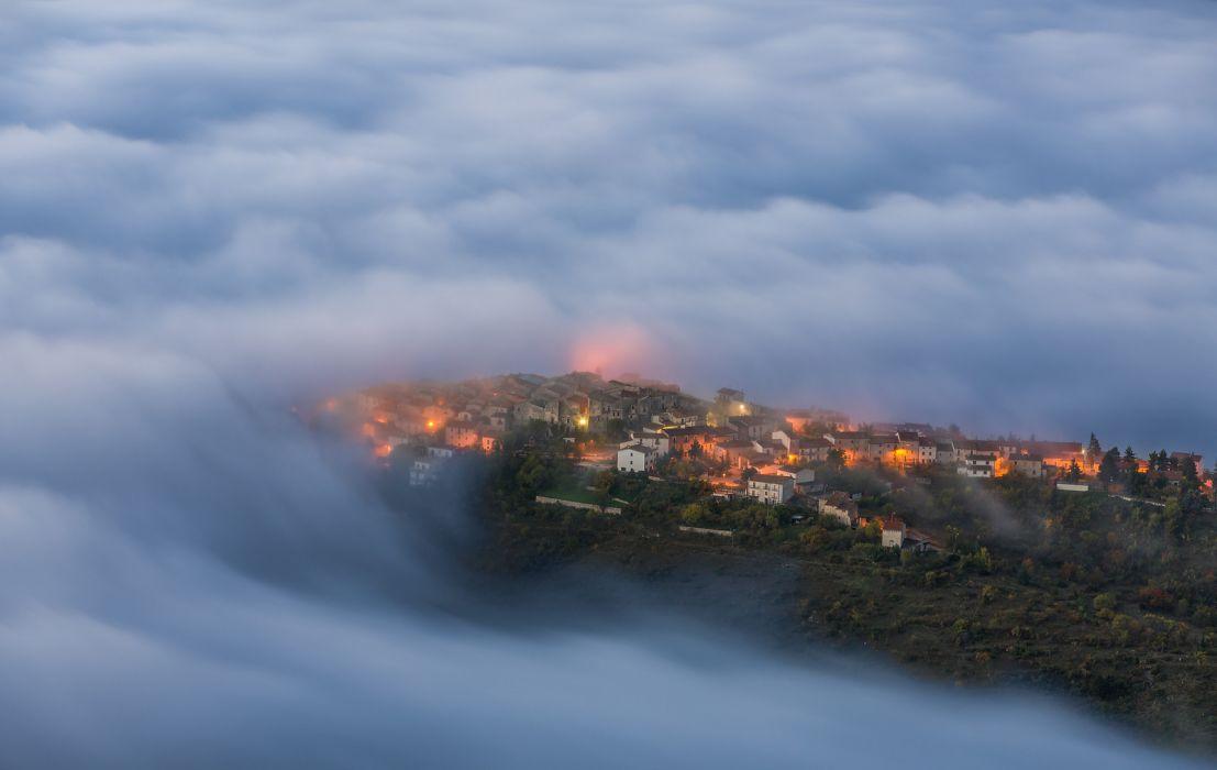 italy abruzzi castelveggio clouds wallpaper