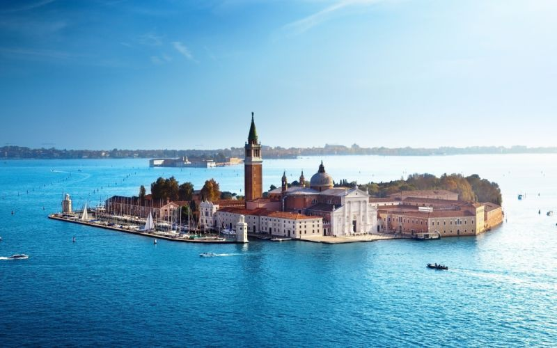 Venice italy church island sea san giorgio maggiore wallpaper