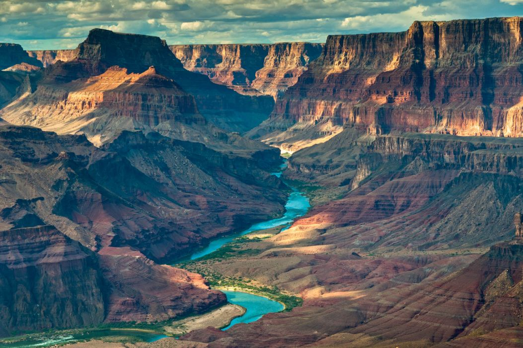 Colorado river canyon grand canyon arizona  wallpaper