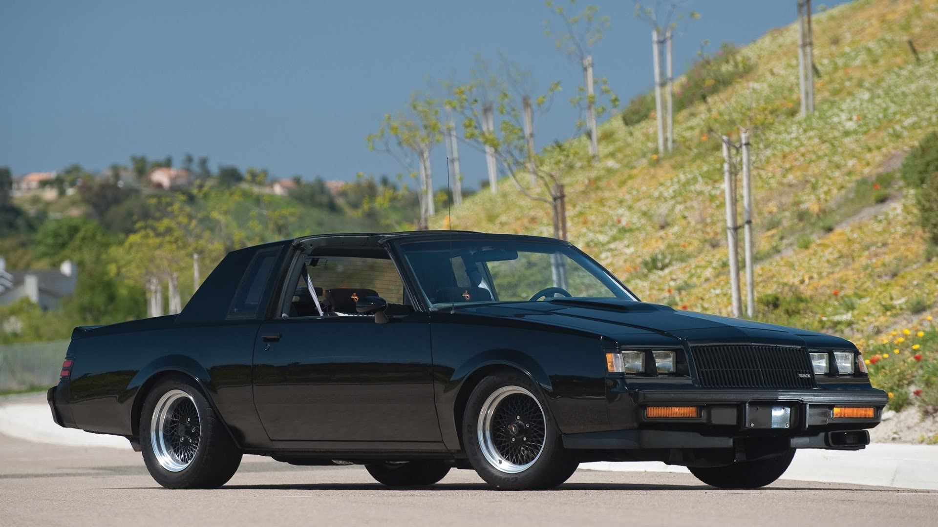 Buick Grand National >> Cars Buick black cars Buick GNX muscle car wallpaper   1920x1080   206235   WallpaperUP