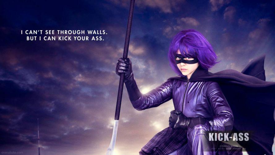 movies purple hair Kick-Ass Chloe Moretz Hit Girl domino mask wallpaper
