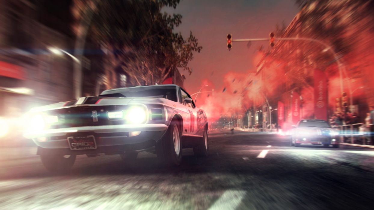 video games cars muscle cars Ford Mustang races Grid 2 wallpaper