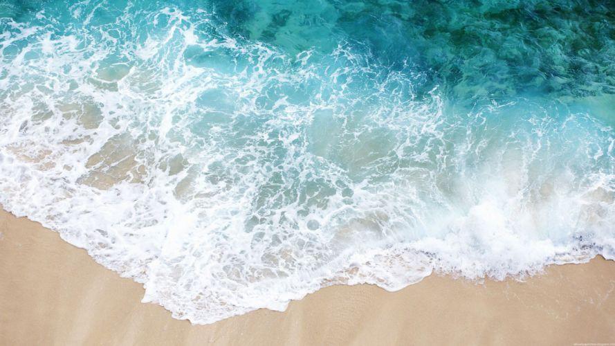 water sand shore beaches wallpaper