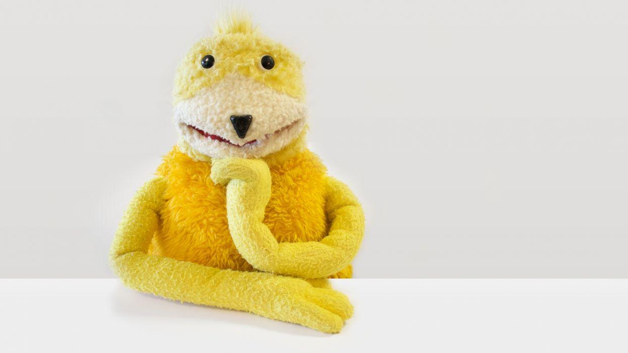 yellow puppets wallpaper
