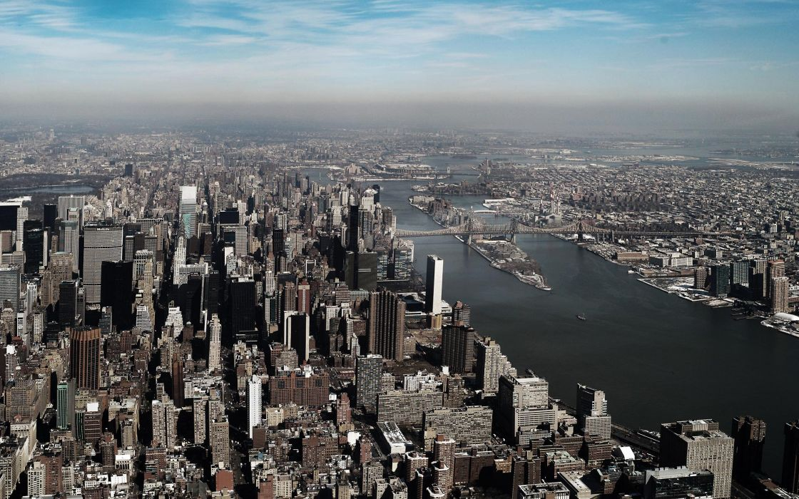 New York City Manhattan city skyline wallpaper