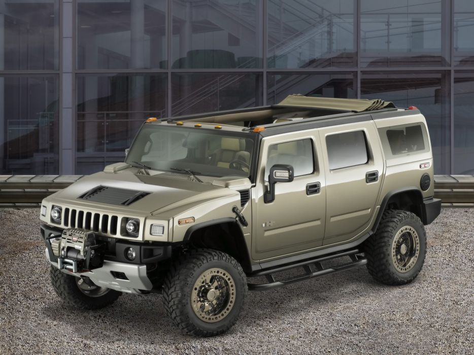 front roads vehicles Hummer H2 safari wallpaper