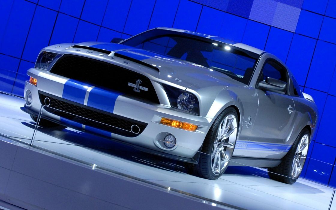 blue Ford Mustang Complex Magazine Shelby GT500 Supersnake wallpaper