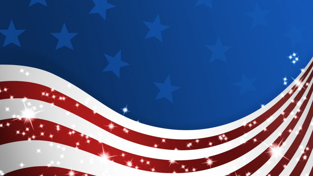 American 3D renders patriotic flag of america stars and stripes wallpaper