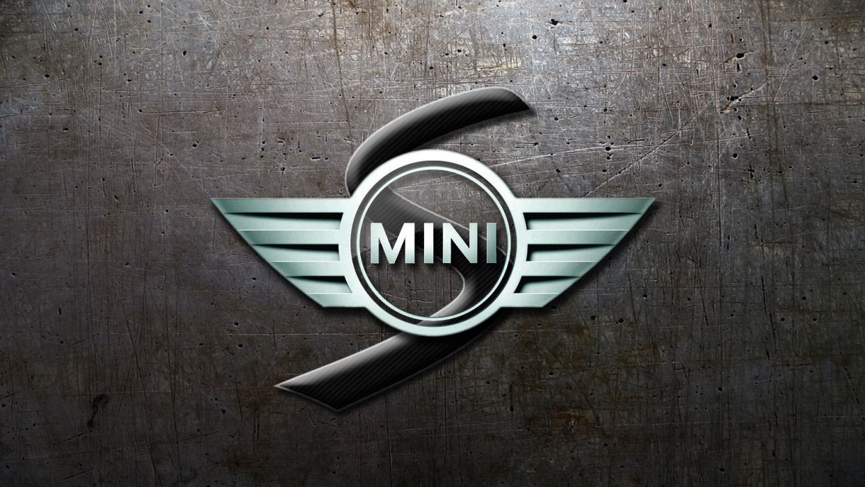 mini cooper logos Glassy wallpaper
