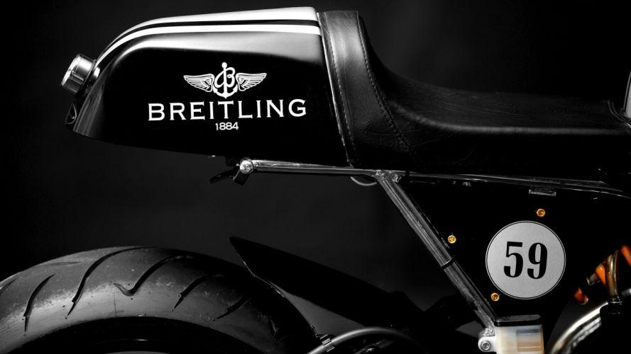 black Breitling motorbikes motorcycles cafe racer wallpaper