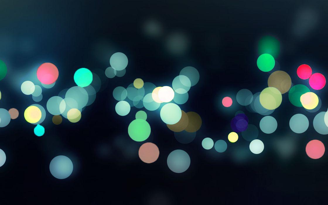 lights multicolor bokeh wallpaper