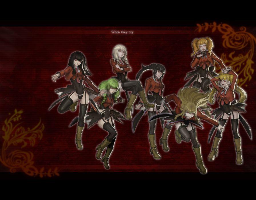 Umineko no Naku Koro ni anime girls Stakes of Purgatory wallpaper